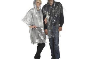 Regnfrakke i plast